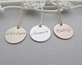 Personalized Rose GOLD Necklace, Rose Gold Tag Necklace, Rose Gold Name Necklace, Rose Gold Engraved Necklace, Rose Gold Necklace