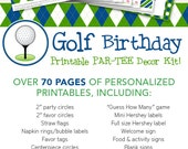 Navy Golf Birthday Party Printable Decor Kit - Over 70 pages of personalized printables!