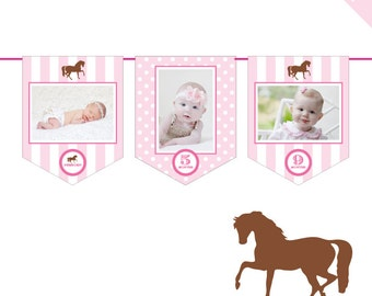 INSTANT DOWNLOAD Pony Party / Horse Party - DIY printable photo banner kit