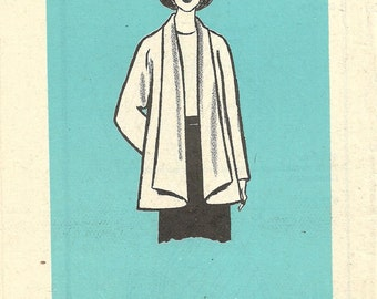 Marian Martin 9463 / Vintage Mail Order Sewing Pattern / Swing Jacket Trapeze Coat / Size 10