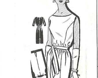 Vintage Mail Order Sewing Pattern 1439 / Sheath Dress / Size 12 Bust 32