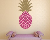 Pineapple Wall Decal, Pineapple Decor, Retro Wall Decal, Retro Wall Decor, Tropical Decor, Tropical Wall Decal, Fruit Wall Art, Dorm Decor