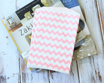 Light PINK Chevron Middy Bitty Bags paper bags
