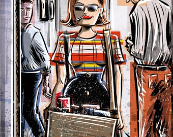 Peggy Olson, Mad Men, Art Print, Peggy Olsen,lost horizon, madmen, Joe Badon Elisabeth Moss Don Draper Sterling Cooper Ad Advertising AMC