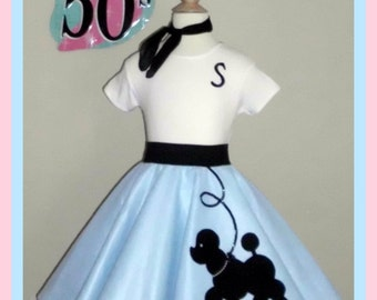 Adorable Girls 3pc Prancing poodle skirt outfit Your choice of Size and Color S,M,L,XL Prices from 63.00 and Up!