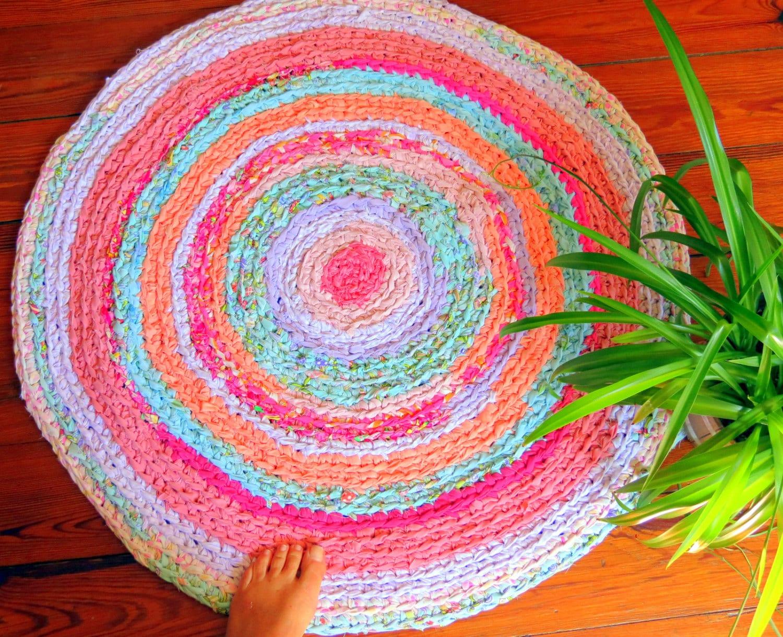 Rag Rug Braided Crochet Rag Rug Baby Bedding