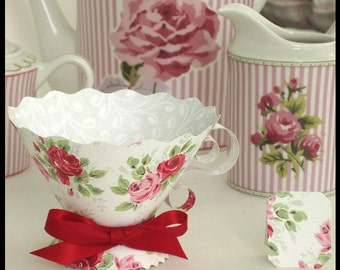 Teacup wrappers etsy for Victorian tea party favors