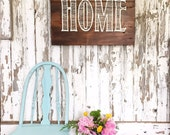 There's No Place Like Home - Reclaimed Barn Wood Sign- Planked Typography Sign-120 year old Barn Wood Wall Decor