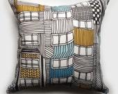 Art Deco Apartment Pillow 17 inch x 17 inch
