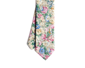 Kelly - Pink/Peach Floral Men's Tie
