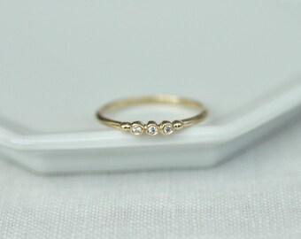 Petite Diamond Trio Ring