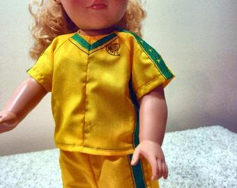 18 Inch Doll Soccer Uniform