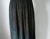 80s Metallic Silver and Black Skirt by Prophecy - Made in USA - Size 2 Extra Small