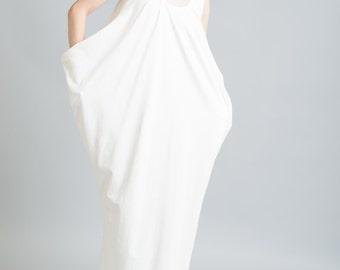 NEW Long Maxi Kaftan Dress / Casual Dress / Party Dress / Sleeveless Dress / Jersey Dress / Designer Maxi Dress / marcellamoda - MD009