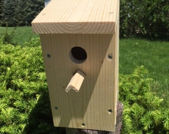 Hand crafted birdhouse