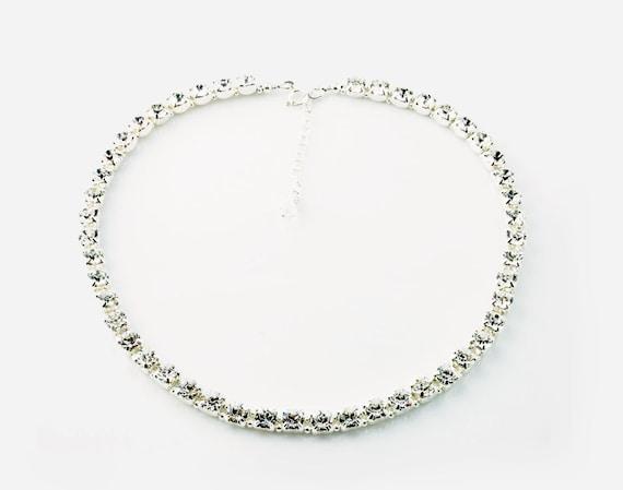 Stunner, Swarovski Crystal Necklace, Bridal Necklace