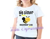 BIG SISTER to Bee shirt Personalized just for you