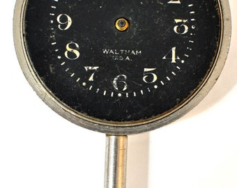 Waltham 8 Day Car Clock