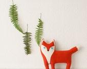 the Fox - woolen fox pillow - MADE TO ORDER