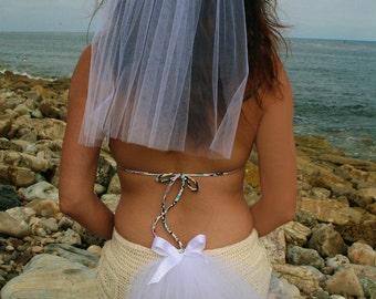 Las Vegas Party Veil SET, Bachelorette Bikini Veil and Head Veil SET of 2