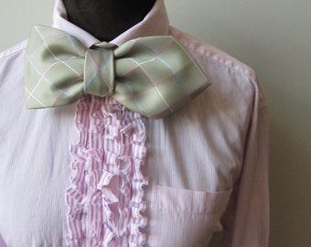 Pink Tuxedo Shirt, Womens Tux Shirt, Boyfriend Shirt, Upcycled Clothing, Striped Tunic, Tie Back Shirt, Hipster Shirt, Urban Clothing