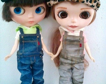 Cool overalls for Neo Blythe,Pullip,Pure neemo and more to have 3 version for select.
