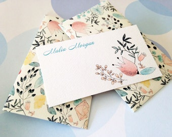 Personalized Mini Cards and envelopes, Gift Enclosure Card, Gift Card Holder, Set of 10