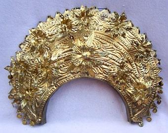 Vintage Indonesian Sumatra Headdress Headpiece Tiara Crown Hair Accessory Hair Comb Hair Pin Tribal Fusion (AAV)
