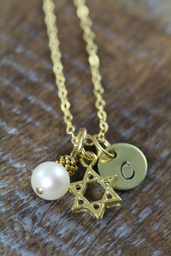 Personalized star of david necklace gold by for Star of david jewelry wholesale
