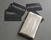 Art Deco Cigarette Case from England - Engineered Chrome - Business Card Holder