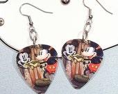 Mickey Mouse - Mickey Earrings - Mickey the Artist - Guitar Pick Earrings