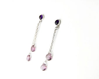 Amethyst Queen Sterling Silver Post Earrings
