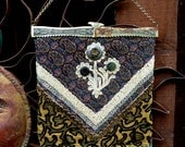 Bohemian Rustic Handbag, OOAK Design, Hand Embroidered, Eco Handbag, Hippie, Boho