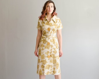 Vintage 1950s Floral Dress - 50s Dress - Best Friend Dress