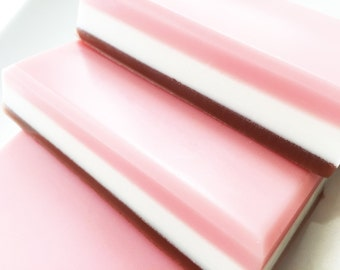 Soap, Neapolitan Ice Cream Soap Bar, Bath Soap, Bar Soap, Ice Cream Soap, Chocolate Vanilla Strawberry Soap
