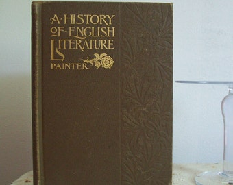 Antique book A History of English Literature 1899 hardcover 697 pages complete great condition