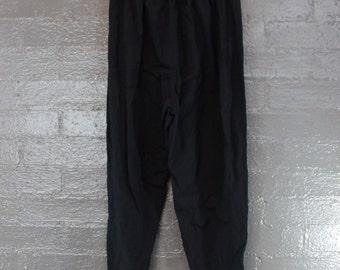 Vintage Black 90s Stirrup Leggings Pants by hunts club W