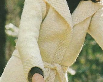 Vintage Knit Cardigan Wrap PDF Pattern