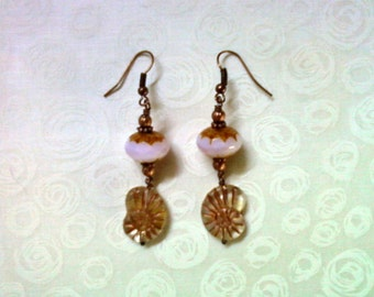 Pink and Copper Shell Earrings (1300)