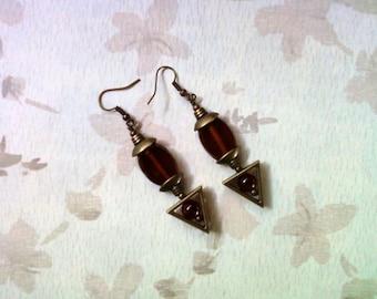 Brown Earrings (1731)
