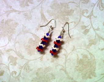 Red, White and Blue Patriotic Earrings (2093)
