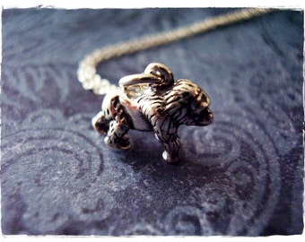 Tiny Gorilla Necklace - Tiny Sterling Silver Gorilla Charm on a Delicate Sterling Silver Cable Chain or Charm Only