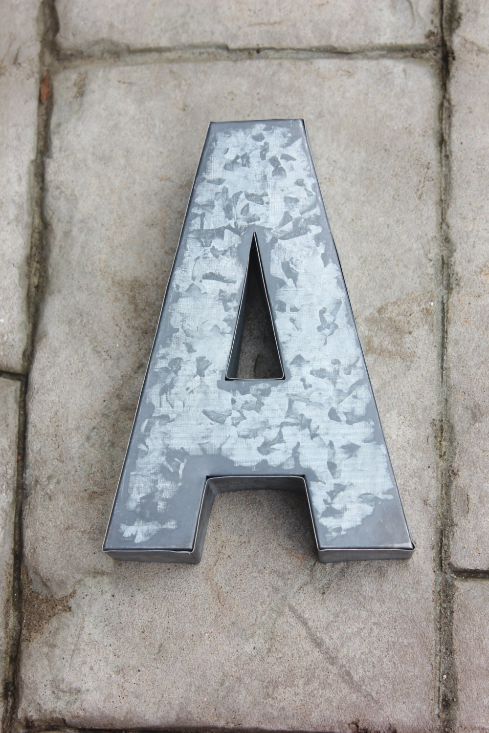 Galvanized Letter H Large Metal Letter Zinc Steel Initial Home Room Decor Diy
