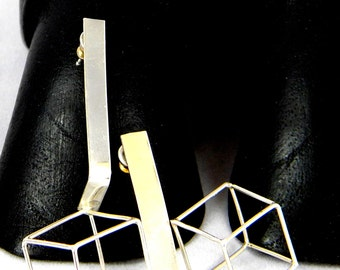 Cubes on Edge Earrings
