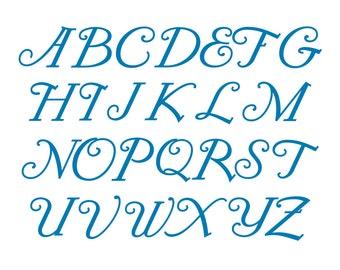 SVG Monogram Font, Alphabet Cutting File, Commercial Use, RKLFH