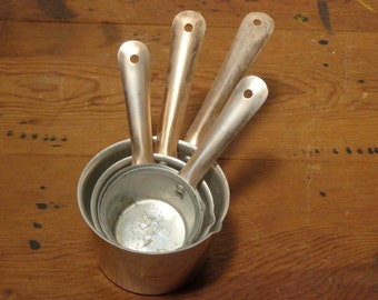 Vintage Anodized Copper and Aluminum Measuring Cups  -  15-257