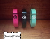SET OF TWO Monogram initials decals for Fitbit Flex activity tracker band. You choose color.