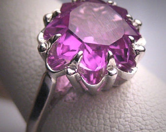 Antique Color Change Sapphire Ring Vintage Art Deco 30s Wedding Ring