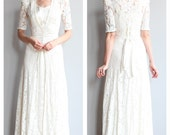 Reserved // 1930s Wedding Gown // Love & Lace Bridal Gown // vintage 30s lace dress
