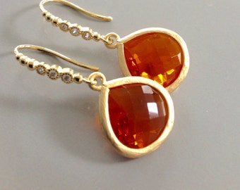 Orange Dangle earrings, halloween Orange earrings, Halloween earrings, Halloween Dangle earrings